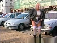 hot girls peeing in public