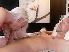Pierced pussy blonde enjoys fucking