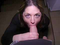 french Tourist Fucked In Public Stairwell