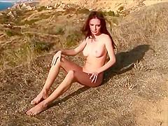 Windy hillside strip