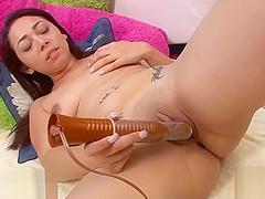 sexy girl has big toys