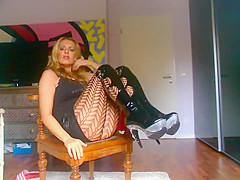 Strict German Mistress with Upskirt Views
