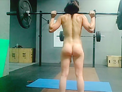 Naked Musculation Beauty Fit Woman