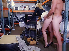 Hot blonde MILF hammered by pawn keeper