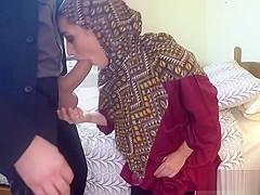 Lovely Arab Lucia Sucks Landlords Huge Cock