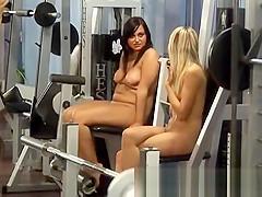 Amazing Body Polish Naked Teens In The Gym Voyeur