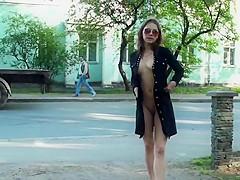 Russian slut Lilia outdoor