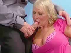 Boss catches secretary masturbating