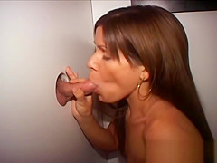 Small Tit Thin Brunette Blowjobs In Glory Hole