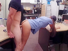 Nurse with glasses banged by pawn keeper