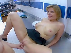 FLORENCE French Mature Fucks In The Restaurant Kitchen vPorn