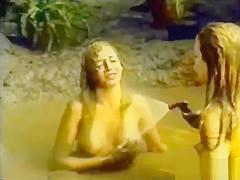 Wet and muddy girls