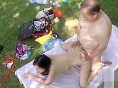 Fabulous porn scene Old/Young try to watch for show