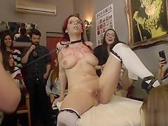 Busty slut public fucked in bar