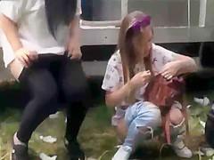 Voyeur's Paradise - girls peeing during a Spanish festival