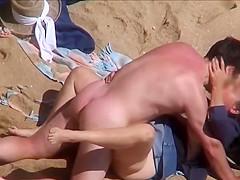 Discrete Beach - Mature couple fucking