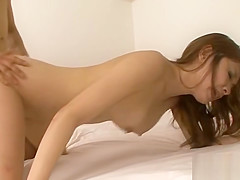 Asian in upskirt gives anal riding