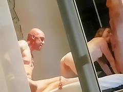 Voyeur Cuckold Girl in 3some