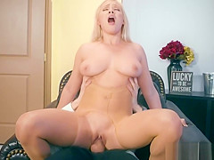 Kylie Page bouncing her pussy on top of Danny Ds big cock