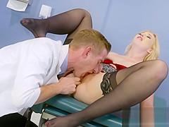 Blonde Patient Samantha Rone Enjoys Doctors Schlong