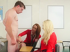 Schoolgirl cfnm wanking teachers cock until cum