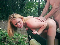 18yo hardfucked outdoors and gets facialized