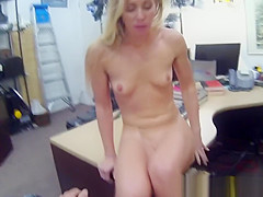 Realsex pawnshop voyeur sucks cock