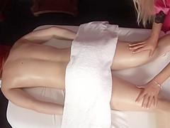 Whitney Removes Lingerie for Erotic Massage