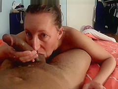 Long sloppy deepthroat blowjob cum in mouth