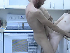 Nympho Cheating Wife Seduces the Plumber - Sex in the Kitchen