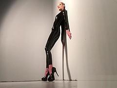 Latex Supermodel Voyeur