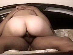 White gf rides and gets it doggy style with cum in pussy