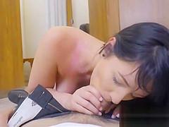 Big tits locker room blowjob