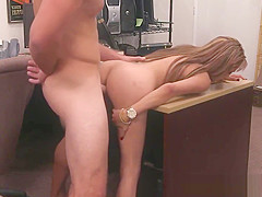 Dicksucking pawnee babe gets fucked for cash