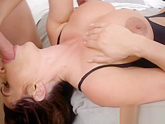 Busty stepmom loves hard huge cock