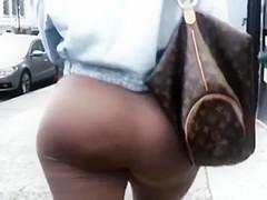 Huge Phatty Wearing Brown Spandex!!!