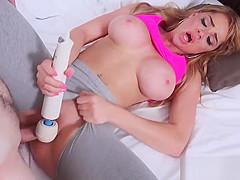 Busty Blonde Skyla Novea Gets Dripping Wet