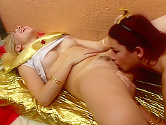 Girlfriends hump , bump and lick each other PT.1/2