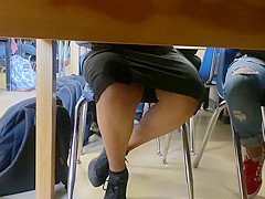 barely legal high schooler up skirt day one