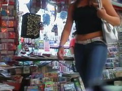 A stimulating street candid video of a scrumptious rear end