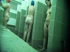 Hidden cameras in public pool showers 677