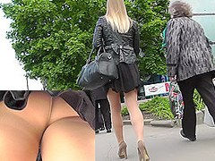 Legs pantyhose unsuspecting that