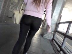 See through leggin thong