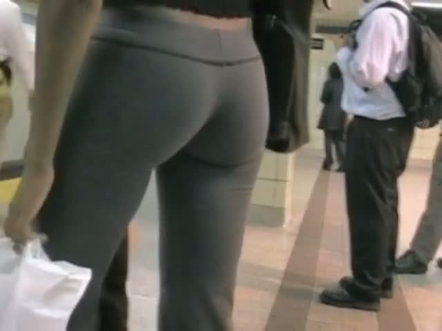 With voyeur yoga pants for that